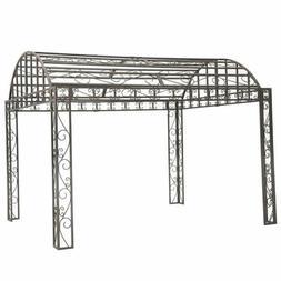 Sunjoy Siesta Garden Iron Arch Top Pergola, 10' x 12' Distre