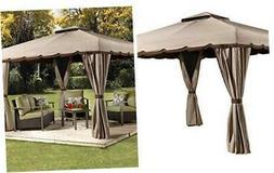 Sojag 10' x 12' Roma Hardtop Gazebo Outdoor Sun Shelter, Bei