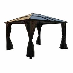 Sojag Meridien 10x12 Hard Top Outdoor Gazebo with Mosquito N
