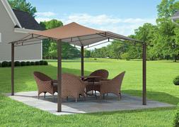 Steel Gazebo Garden Canopy Heavy Duty Large 12 x 12 Outdoor