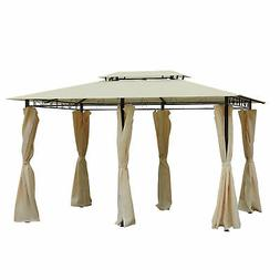 Steel Gazebo Large Pergola Heavy Duty 11 x 13 Patio Metal Fr