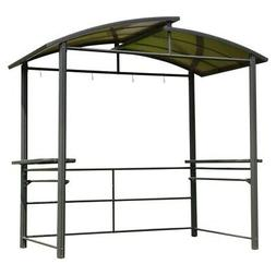 ALEKO Steel Hard Top BBQ Gazebo with Serving Tables - 8 x 5