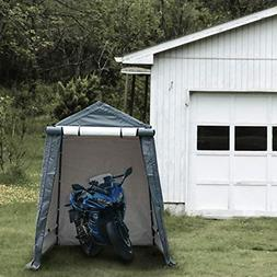 Abba Patio Storage Shelter 6 x 8- Feet Outdoor Carport Shed