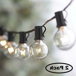50FT String Outdoor Waterproof Globe Light Bulbs Vintage Bac