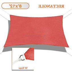 sun shade sail red permeable canopy lawn