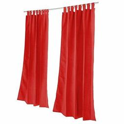 Pawleys Island Sunbrella Outdoor Gazebo Tabbed Solid Curtain