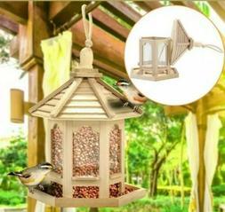 Unfinished Wood Castle Birdhouse with bonus frog