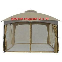 Universal 10 x 12 Gazebo Replacement Mosquito Netting