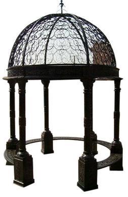 victorian style cast iron garden gazebo
