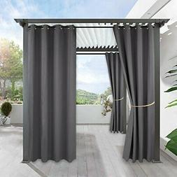 RYB HOME Waterproof Outdoor Curtains - Outdoor Gazebo Curtai
