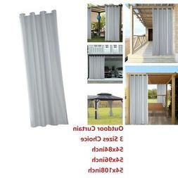 Waterproof Patio Outdoor Curtain Heat Insulated Grommet Drap