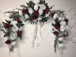 White SWAG Centerpieces Silk Wedding Flowers Arch Gazebo Dec