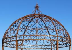Wrought Iron Grand Gazebo Top Section - Create Garden Struct
