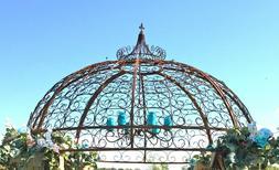 Wrought Iron Jester Gazebo Top Section - Create Garden Struc