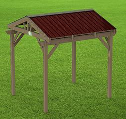 Yard and Garden Gazebo 005 with Gable Roof Building Plans -