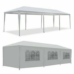Zenstyle 10' X 30' White Outdoor Gazebo Canopy Tent Waterpro